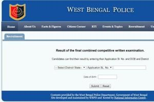 West Bengal Police SI  Written Result 2019 declared, check at wbpolice-gov-in