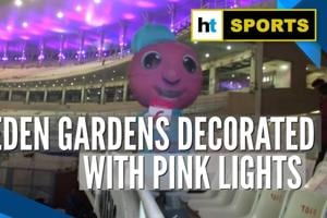 First day-night Test: Eden Gardens decorated with pink lights for pink-ball...