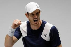 Davis Cup: Andy Murray claws out victory to give Britain lead, Serbia win