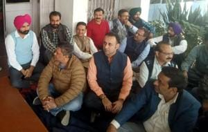 Non-fulfilment of demands: PUTA members stage protest outside V-C office