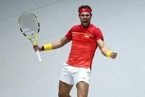 Nadal powers Spain into Davis Cup semis, Djokovic's Serbia ousted
