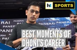 Watch: MS Dhoni reveals two best moments of his career