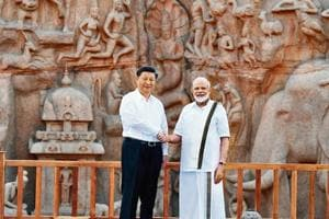 Prime Minister Narendra Modi with Chinese President Xi Jinping in Mamallapuram, Tamil Nadu, where the duo held informal talks in October.
