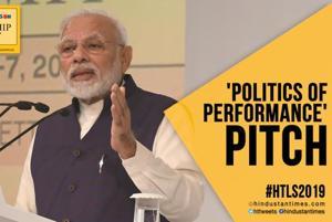 #HTLS 2019: PM Modi slams past govts; makes politics of performance pit...