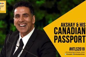 #HTLS 2019: Akshay Kumar explains the Canadian passport controversy