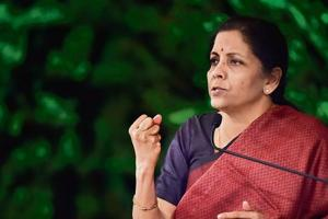 Sitharaman spoke about the rationalisation of tax slabs under GST, in which goods and services ate taxed at  four rates --- 5%, 12%, 18% and 28%.