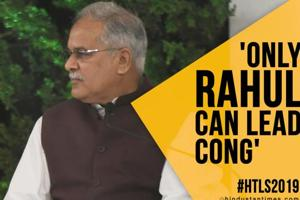 Only Rahul Gandhi can lead Cong, says Baghel; Amarinder differs