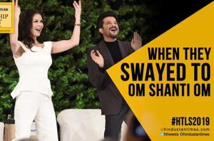Catherine Zeta-Jones, Anil Kapoor match steps to 'Om Shanti Om' at #HTL...