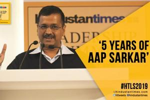 HTLS 2019: Arvind Kejriwal lists achievements ahead of Delhi polls