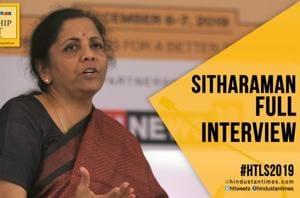 #HTLS 2019: Nirmala Sitharaman on slowdown, fiscal stimulus & GST