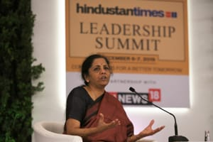 Tax rate cut on table to boost economy, says Finance Minister Nirmala Sitharaman at HT Leadership Summit