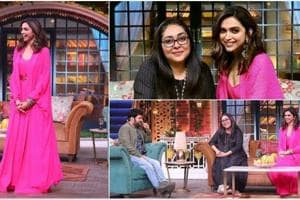 Deepika Padukone paints the town pink, promotes Chhapaak with Meghna Gulzar on The Kapil Sharma Show- See pics