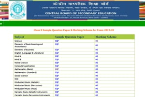 CBSE Sample Papers 2020 for class 10, 12 released, PDFdownload links here
