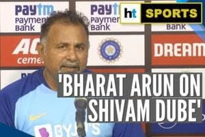 'He's an exciting prospect': Bowling coach Bharat Arun on Shivam Dube