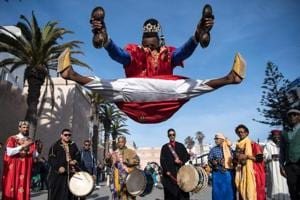 Photos: Rhythm and smiles as Morocco's Gnawa artists get UNESCO listing