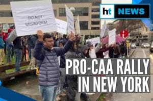 Watch: Indian diaspora in US holds rally backing Citizenship Amendment ...