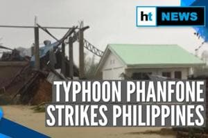 Typhoon Phanfone hits Philippines on Christmas, thousands left homeless