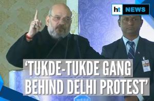 'Congress led tukde-tukde gang behind CAA protests in Delhi': Amit Shah