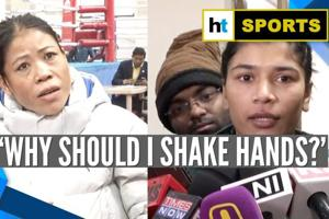 Mary Kom reacts to not shaking hands with Nikhat Zareen after trail bout...