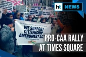 Watch: Indian diaspora's pro-CAA demonstration at Times Square, New York