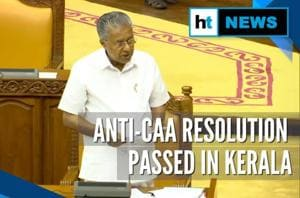 Kerala Assembly passes resolution demanding withdrawal of CAA, BJP oppo...