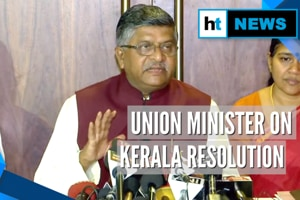 Watch: Union law minister reacts to Kerala Assembly's anti-CAA resoluti...