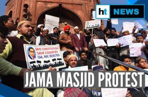 Anti-CAA protest at Jama Masjid, Turkman Gate post Friday prayers