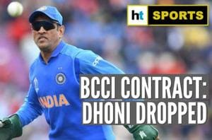MS Dhoni dropped from BCCI's list of centrally contracted list; Kohli, Rohit...