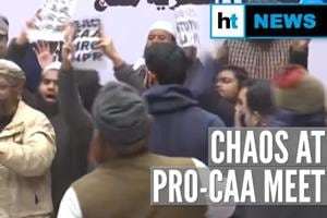 Watch: Protests, chaos at Muslim Rashtriya Manch meet in support of CAA