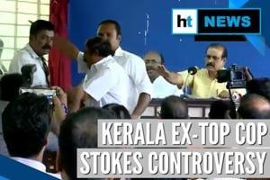 Watch: Journalist manhandled during ex-Kerala DGP Senkumar's press conf...