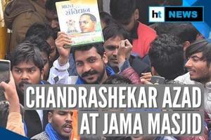 Watch: Chandrashekhar Azad reads Constitution's preamble at Jama Masjid