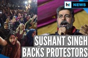 Anti-CAA protest: Actor Sushant Singh joins stir at Delhi's Shaheen Bagh