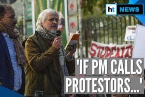 Watch: Ex-Delhi LG Najeeb Jung joins anti-CAA protest, suggests 'soluti...
