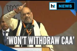 'Won't withdraw CAA; challenge opposition leaders for a debate': Amit S...