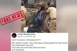 Fact Check: Does viral video show Assam police evicting people under NRC? Here's the truth