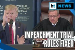 Donald Trump slams 'hoax' as Senate finalises rules for impeachment tri...