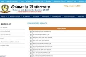 Osmania University has declared the results for various undergraduate exams that were conducted in September.