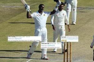 'Hope, it doesn't turn out his last test,' Jason Gillespie's tweet on Angelo Mathews' 200 leaves everyone in splits