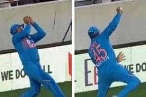 India vs New Zealand: Rohit Sharma's stunning catch at boundary ropes leaves Auckland crowd in awe - WATCH