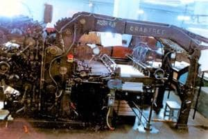 The Monarch model of the printing machine that printed the first thousand copies of the  Constitution of India