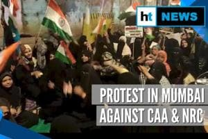 Watch: Shaheen Bagh like protest against CAA, NRC in Mumbai