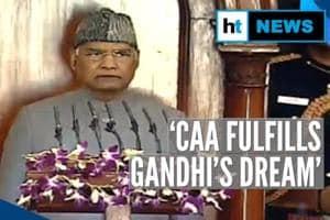 'CAA fulfilled Gandhi's dream': President Kovind; opposition creates ru...