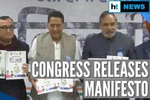 Delhi: Cheaper electricity, unemployment pay among Congress manifesto v...