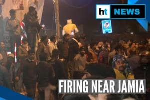 Watch: 2 men open fire near Jamia, students protest outside police stat...