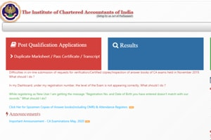 ICAI CA May Exam 2020 registration process begins, here's  how to register