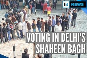 Delhi: Long voter queues at Shaheen Bagh, tight security at CAA protest...
