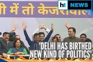 Watch: Arvind Kejriwal's victory speech as AAP sweeps Delhi polls