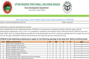 UPSRLM Recruitment 2020:1954 vacancies on offer, check details here