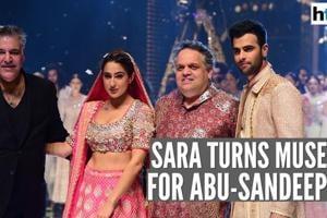 When Sara Ali Khan turned muse for designers Abu-Sandeep