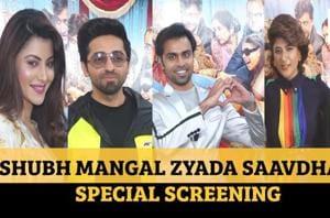 Ayushmann Khurrana, wife Tahira at Shubh Mangal Zyada Saavdhan special ...